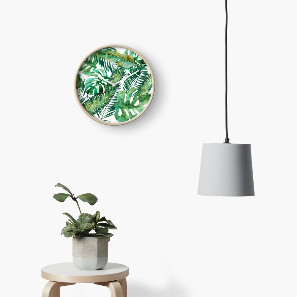 Monstera Banana Palm Leaf Clock
