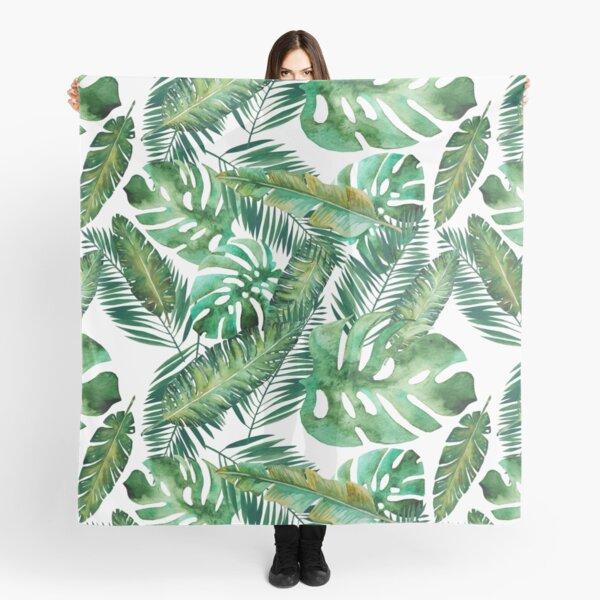 Monstera Banana Palm Leaf Scarf