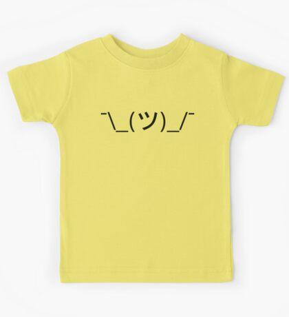 Shrug Emoticon ¯\_(ツ)_/¯ Japanese Kaomoji Kids Tee