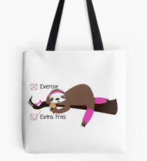 Fry Sloth in Pink Tote Bag