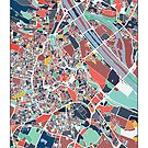 Vienna Austria Abstract Map Art by parmarmedia