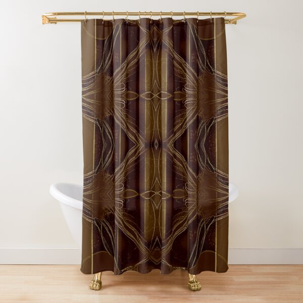 Leather Brown  Shower Curtain