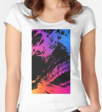 Abstract Rainbow Women's Fitted Scoop T-Shirt