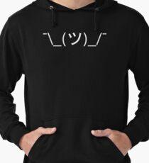 Shrug Emoticon ¯\_(ツ)_/¯ Japanese Kaomoji Lightweight Hoodie