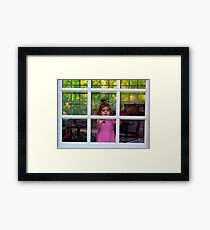 Olivia Through The Window Framed Print