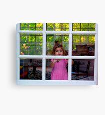 Olivia Through The Window Canvas Print