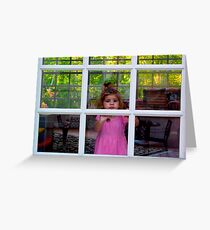 Olivia Through The Window Greeting Card