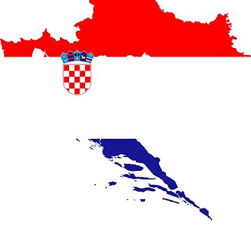 Croatia Fan T-Shirt Shirt Flag Croatia Hrvatska by mjacobp