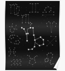 Steinbock Sternzeichen Konstellation Design Poster