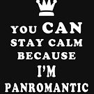 PANROMANTIC YOU CAN STAY CALM BECAUSE I'M PANROMANTIC  by asexualise