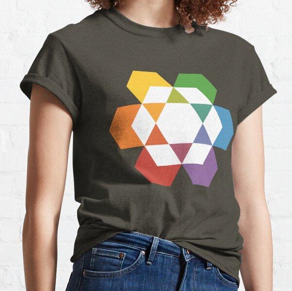 Hexagonal Awareness Star Dattern (white infill) Classic T-Shirt
