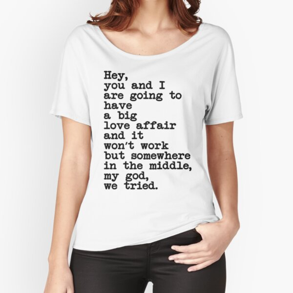 Big Love Affair Text Relaxed Fit T-Shirt