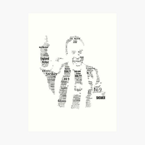 Alan Shearer - Newcastle United Legend Art Print