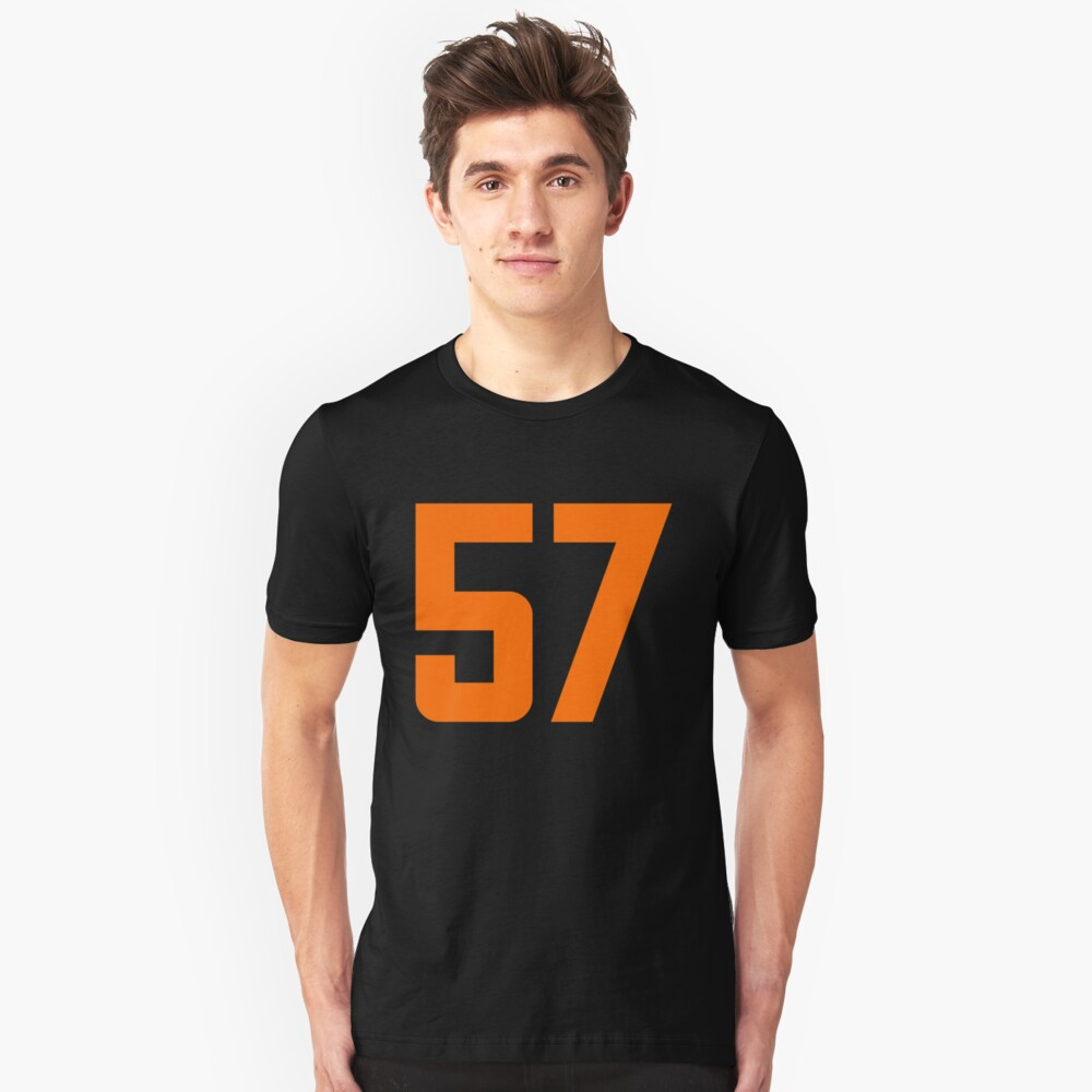 Orange Number 57 Unisex T-Shirt Front