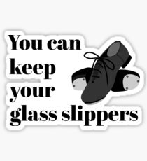 Funny Tap Dance Student or Teacher Glass Slippers square Sticker