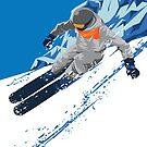 Downhill Skiing Snow Skier Ski Winter Sports by scooterbaby