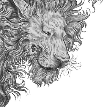 Lion Courage - Fantasy Drawing by carissalapreal