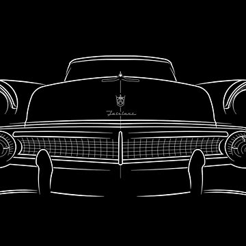 1955 Ford Fairlane 500 - front stencil, white by mal-photography