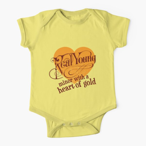 Real Young Minor with a Heart of Gold by lilterra.com Short Sleeve Baby One-Piece