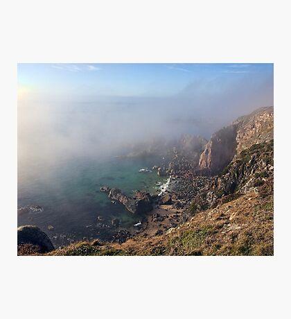 Foggy Cliffs - Alderney Photographic Print