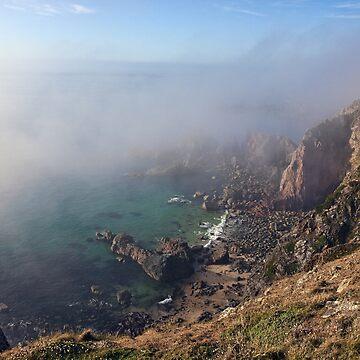 Foggy Cliffs - Alderney by NeilAlderney