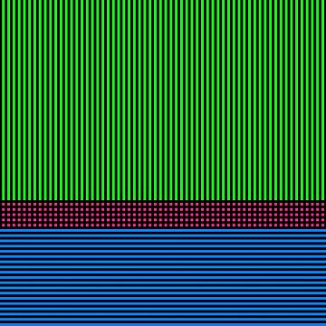 Green Fuchsia and Blue with Black Stripes by Greenbaby