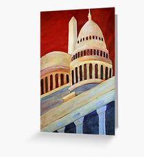 Monumental Abstraction Greeting Card