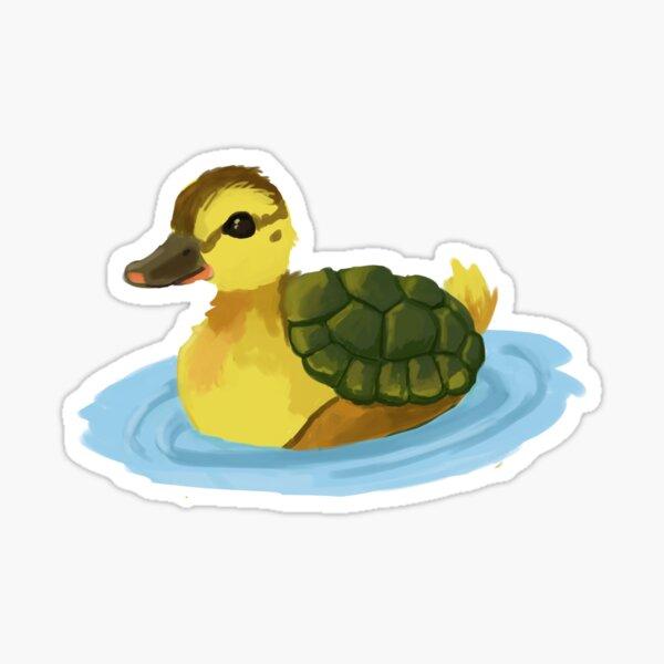 Turtle Duck Sticker