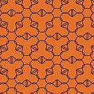Simple geometric pattern 03 in orange by MaijaR
