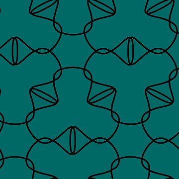 Simple geometric pattern 03 in green by MaijaR