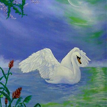 Swan Night by anastasopoulou