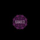 Yoga namaste greeting with a beautiful mandala pattern, hindu greeting, I bow to the divine in you by Mike Suszycki