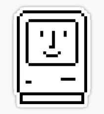 Happy Mac - vintage smiling Apple Macintosh icon 1984 (small) Sticker