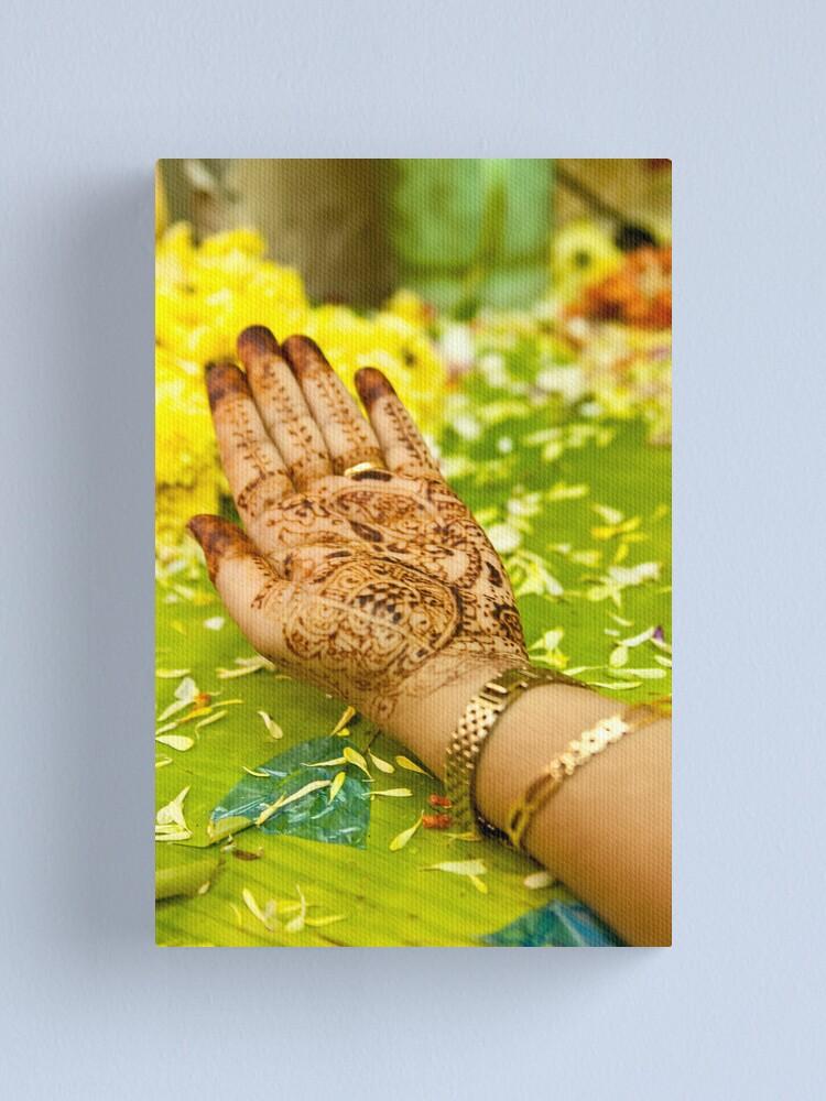 Alternate view of Henna Canvas Print