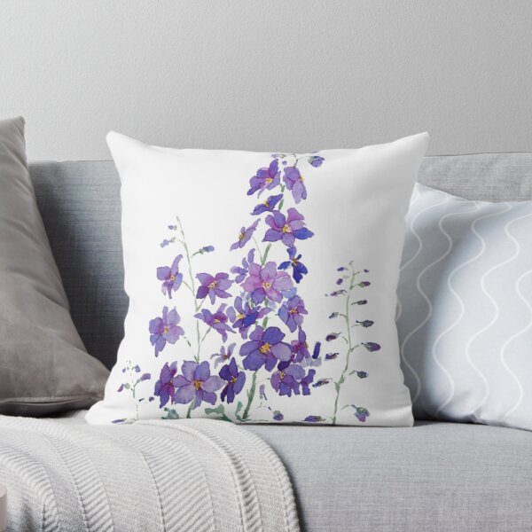 Blue Lace Flower Pillows Cushions Redbubble