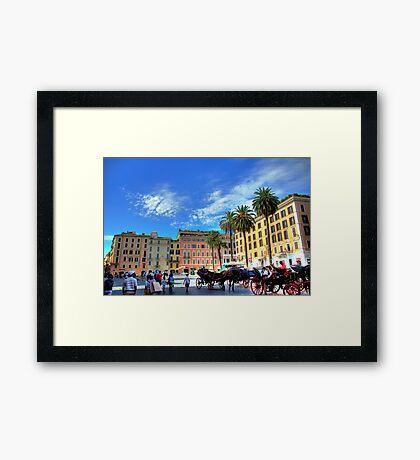 Spanish steps square Framed Print