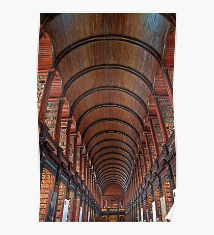 Ireland. Dublin. Trinity College. Library. Poster