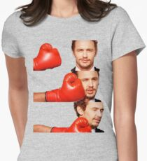 James Franco gets the humor knocked out of him Womens Fitted T-Shirt
