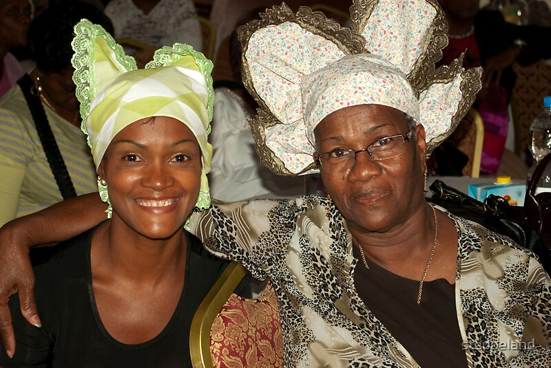 Quot Two Women With Curacao Traditional Head Coverings Quot By