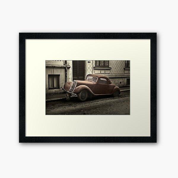 Car: A Portrait Framed Art Print