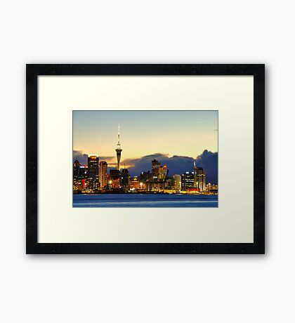 Auckland port Framed Print