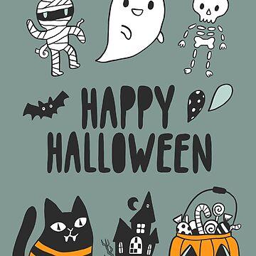Happy Halloween cute pattern by kostolom3000