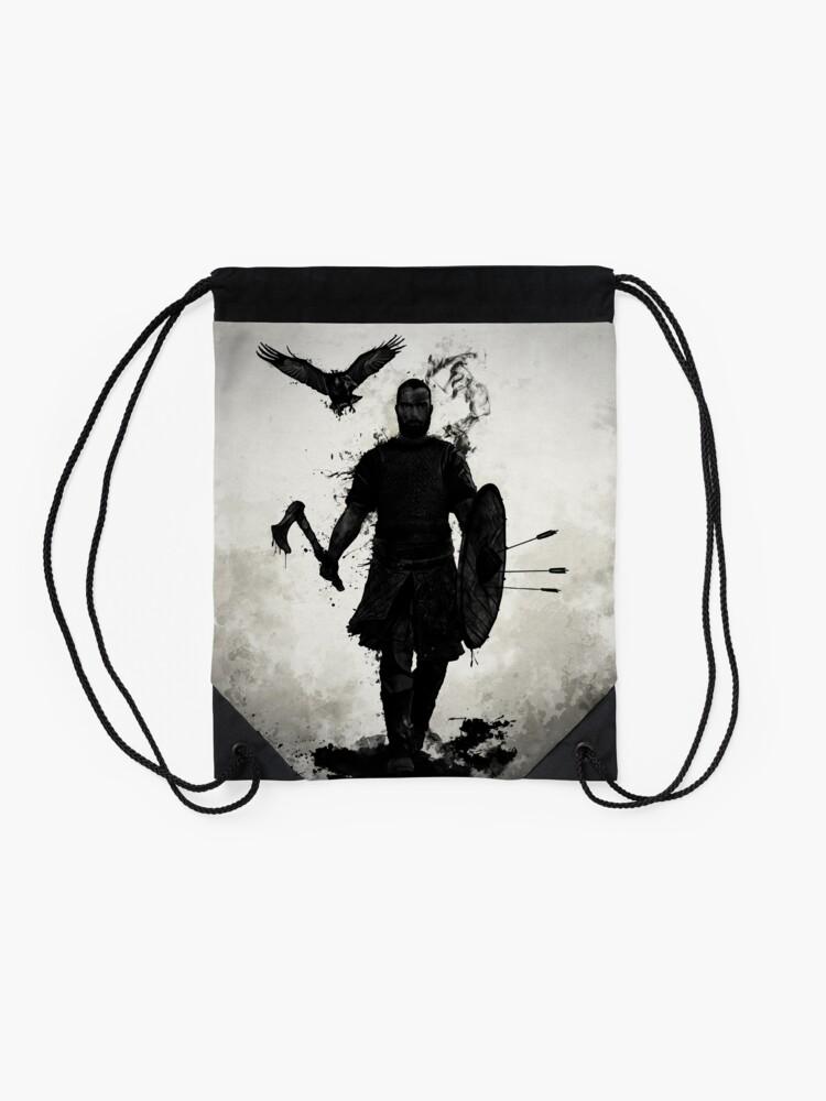 Alternate view of To Valhalla Drawstring Bag