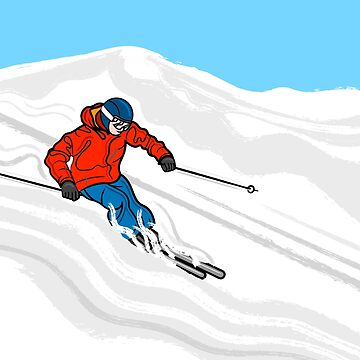 Skier Illustration by AdamRegester
