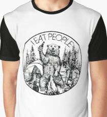 Camping I Eat People Vintage T Shirt Graphic T-Shirt
