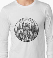 Kampieren Ich esse Leute Vintage T-Shirt Langarmshirt