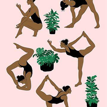 yoga and plants by anneamanda