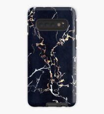 Space Blue & Gold - Iphone / Galaxy Hüllen Hülle & Klebefolie für Samsung Galaxy