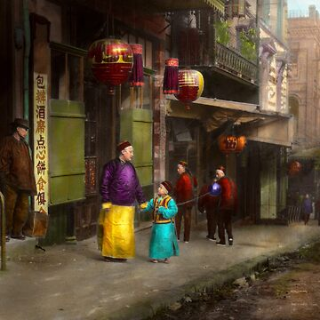 City - San Francisco - Chinatown - Visiting the commoners 1896-06 by mikesavad