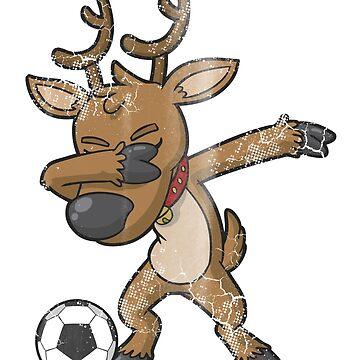 Christmas Soccer Reindeer by frittata